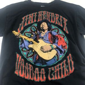 Jimi Hendrix Voodoo Child T-Shirt Band Tee Classic